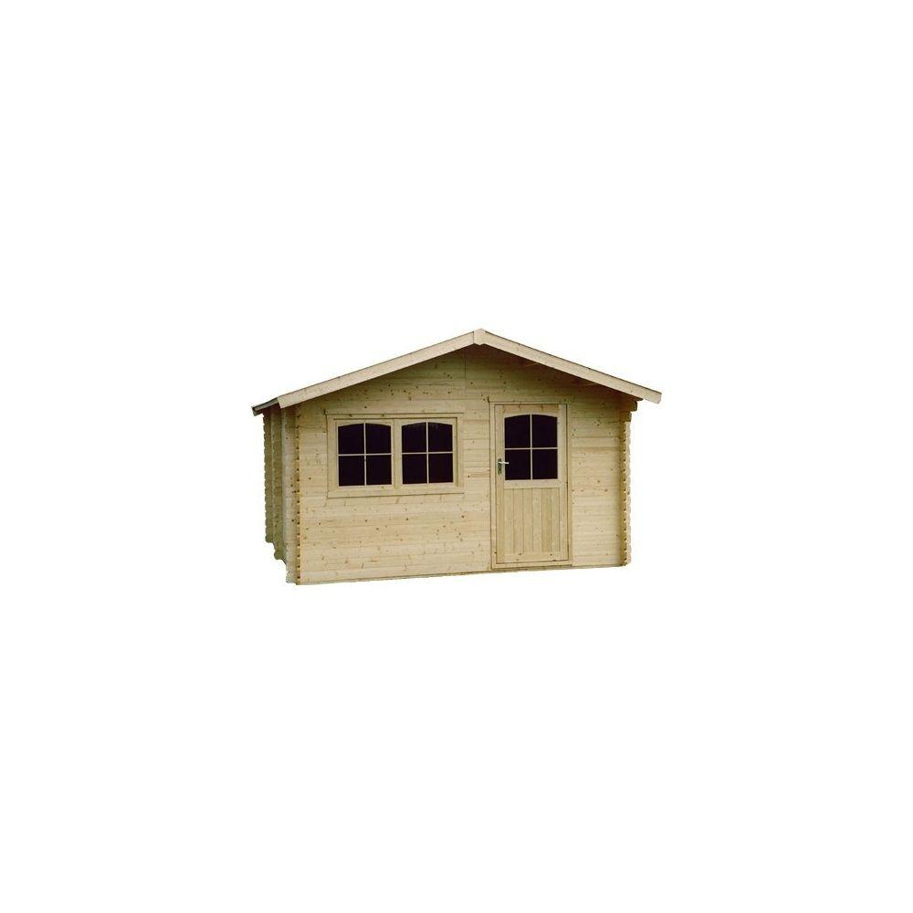Abri de jardin 11 m2 bois 34 mm pefc t4 simple porte for Abri de jardin 34mm