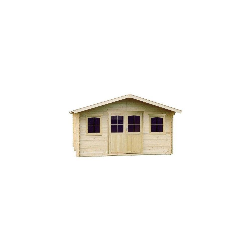 Abri de jardin m hors tout bois 34 mm pefc t4 for Porte abri de jardin bois