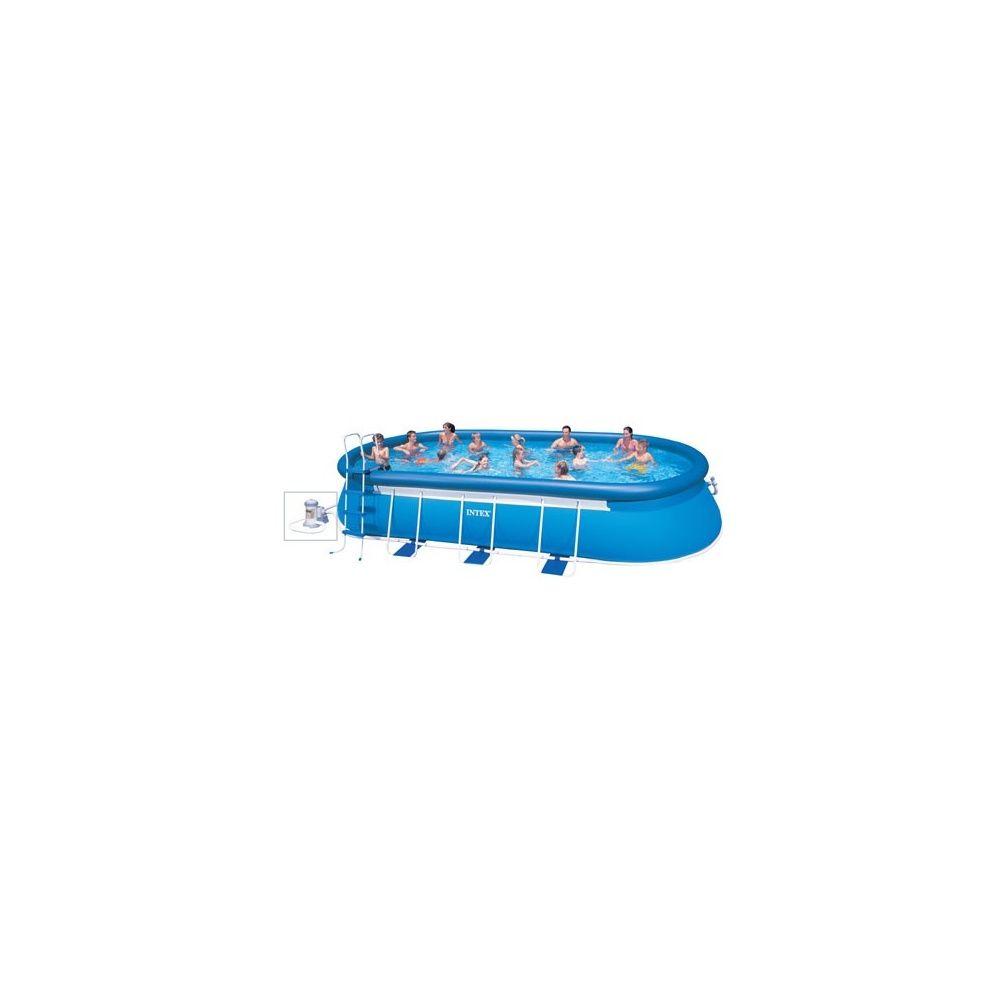 kit piscine autoportante ellipse intex l 7 32 m x l 3 66 m. Black Bedroom Furniture Sets. Home Design Ideas