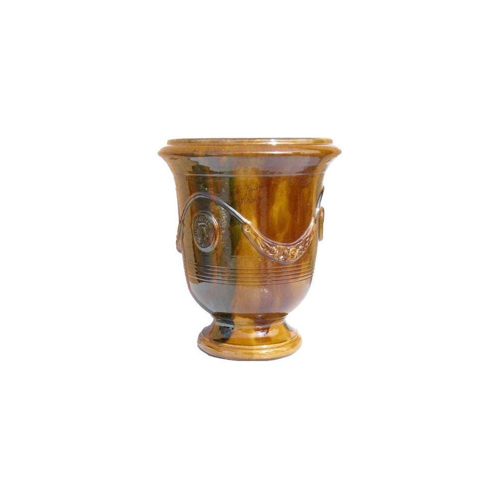 poterie d 39 anduze vase traditionnel flamm taille 2. Black Bedroom Furniture Sets. Home Design Ideas