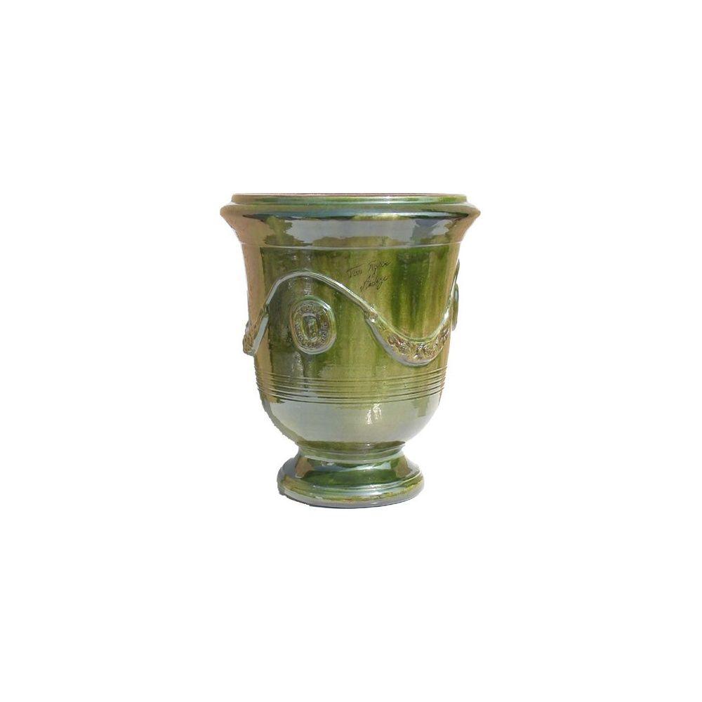 poterie d 39 anduze vase traditionnel vert taille 4 plantes et jardins. Black Bedroom Furniture Sets. Home Design Ideas