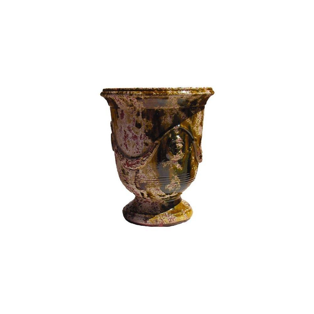 poterie d 39 anduze vase vieilli flamm taille 2. Black Bedroom Furniture Sets. Home Design Ideas