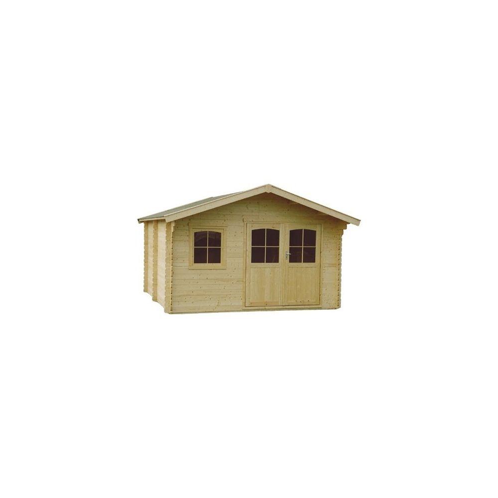 Abri de jardin 15 m2 bois massif 34 mm pefc t4 double for Porte abri de jardin en bois