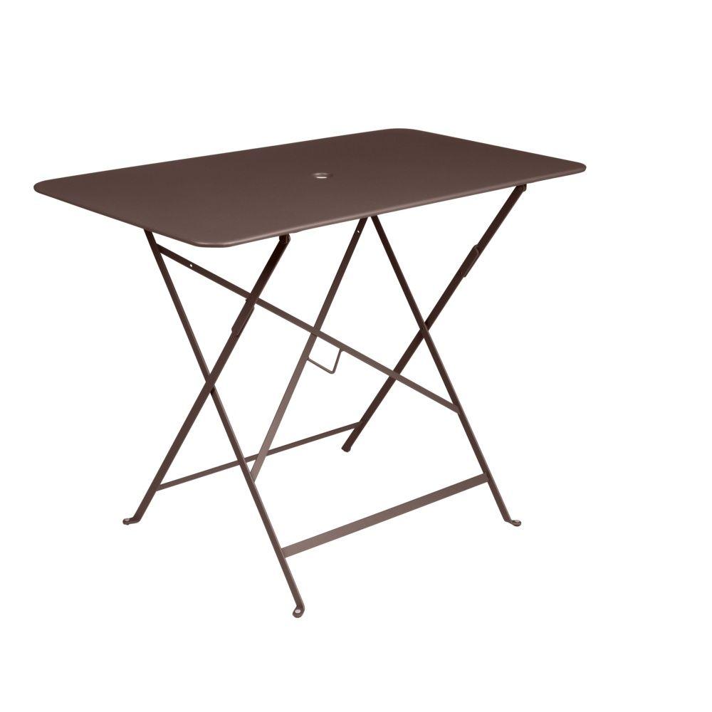 table pliante fermob bistro acier l97 l57 cm rouille. Black Bedroom Furniture Sets. Home Design Ideas