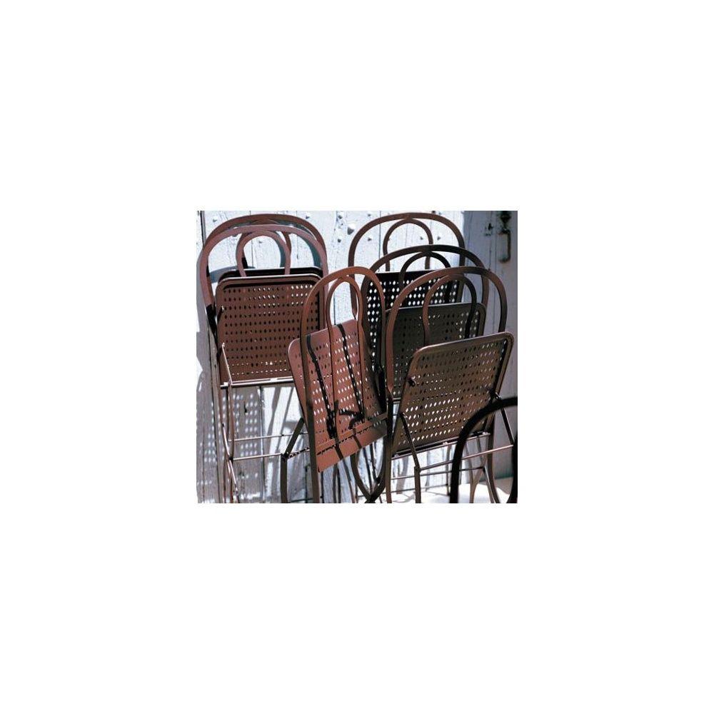 chaise pliante castille plus rouille fermob lot de 2 plantes et jardins. Black Bedroom Furniture Sets. Home Design Ideas