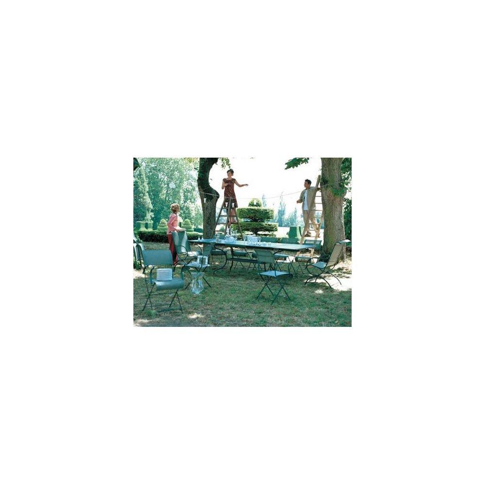 chaise pliante dune tilleul fermob lot de 2 plantes et jardins. Black Bedroom Furniture Sets. Home Design Ideas