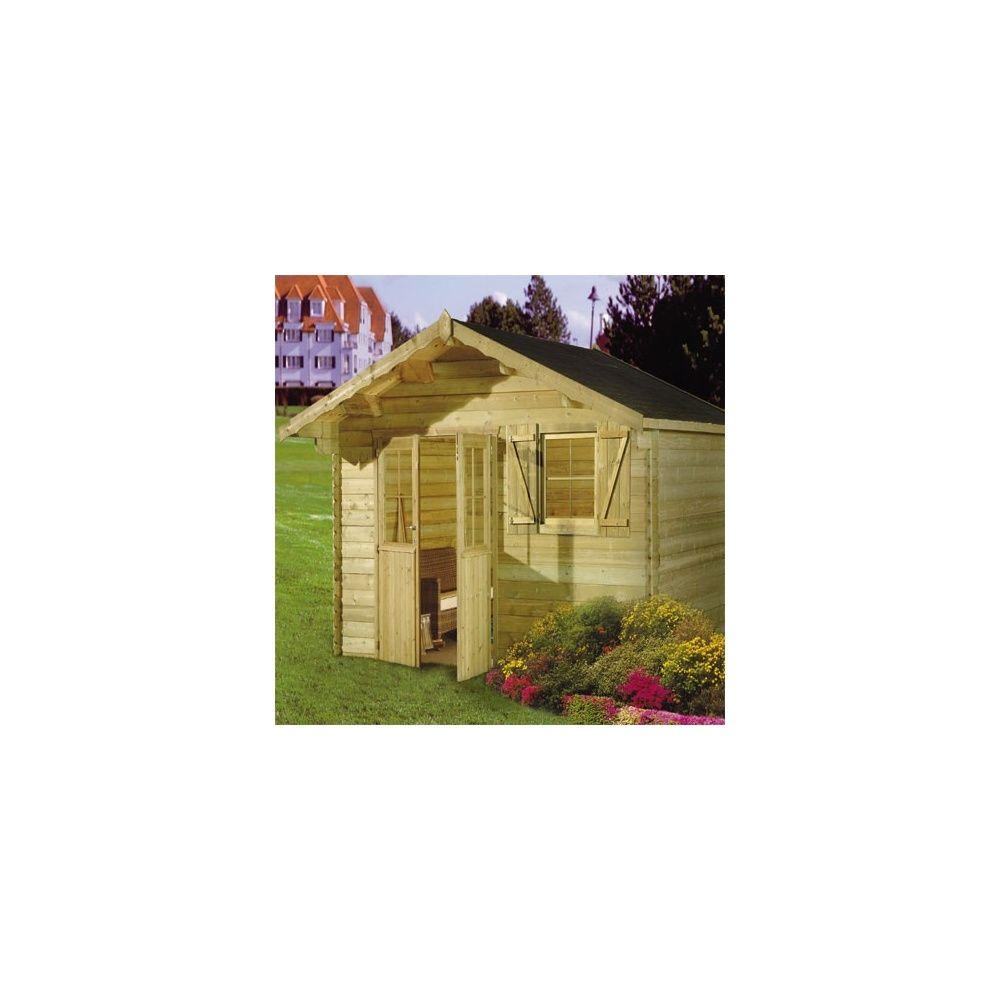Abri de jardin 16 2 m2 galibier bois massif autoclave 35 for Abri jardin autoclave