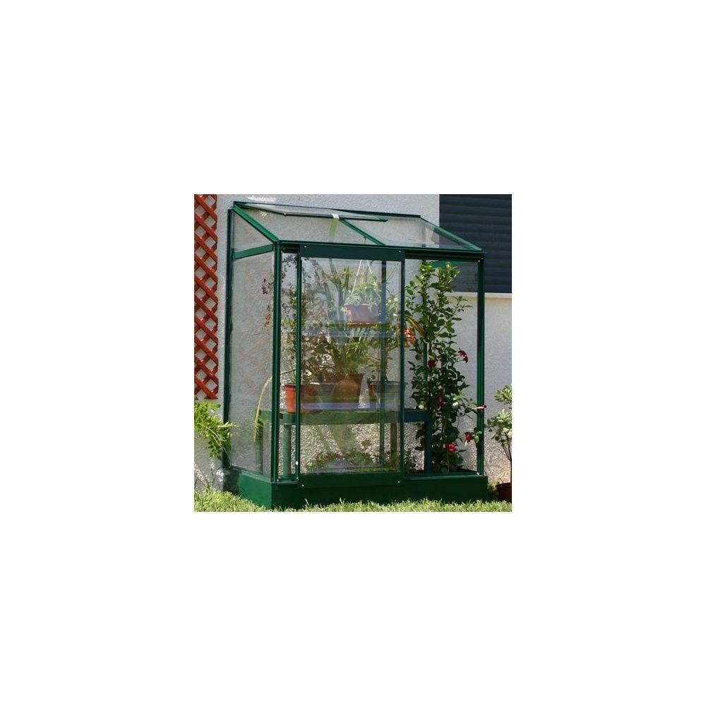 serre de balcon adoss e laqu e vert en polycarbonate lams. Black Bedroom Furniture Sets. Home Design Ideas