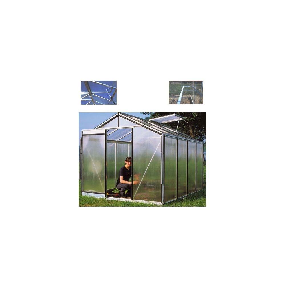 Serre en polycarbonate avec parois droites 9 06m2 plantes et jardins - Serre en polycarbonate ...