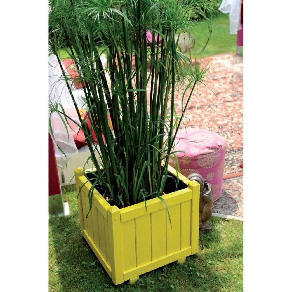 Bac fleurs bois trait l46 h44 cm vend me plantes et for Bac plante jardin