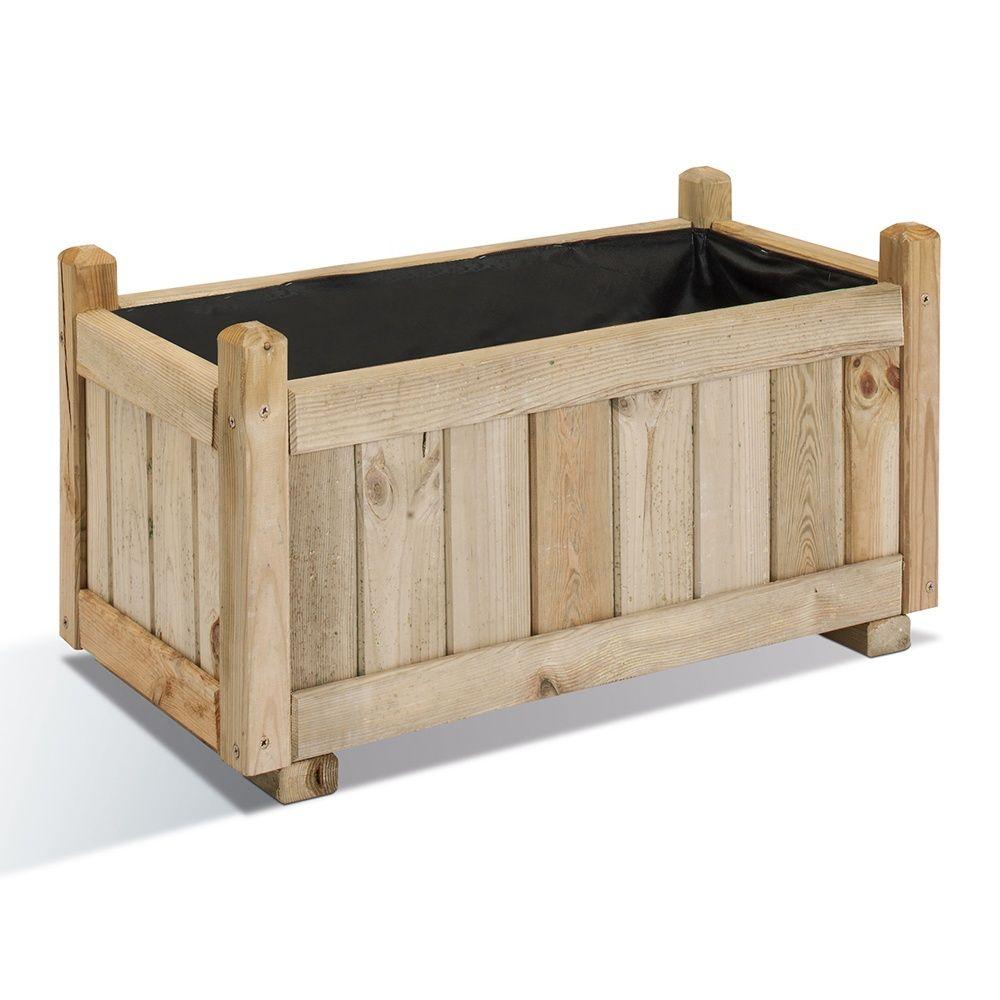 bac fleurs bois vend me l72 h39 cm plantes et jardins. Black Bedroom Furniture Sets. Home Design Ideas