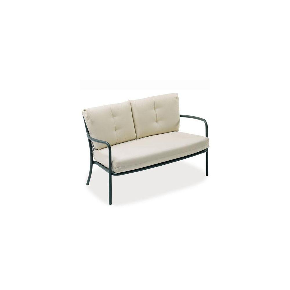 fauteuil bas athena 2 places en acier vernis fer ancien emu plantes et jardins. Black Bedroom Furniture Sets. Home Design Ideas