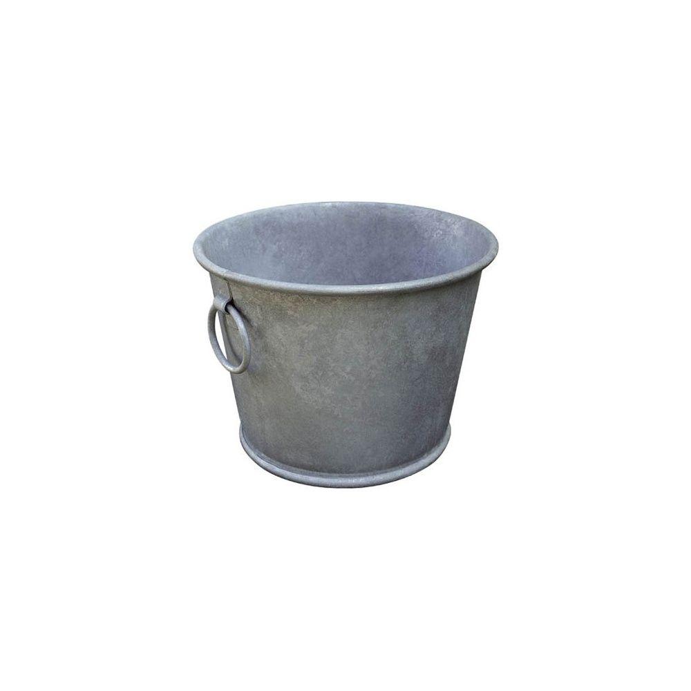 bac planter en acier galvanis le zinc au jardin d36