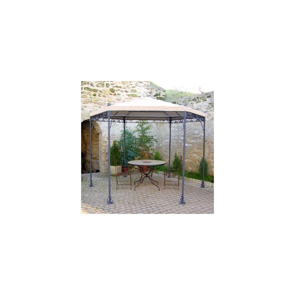 Gloriette en fer forg d 3 40 m plantes et jardins - Gloriette de jardin en fer forge ...