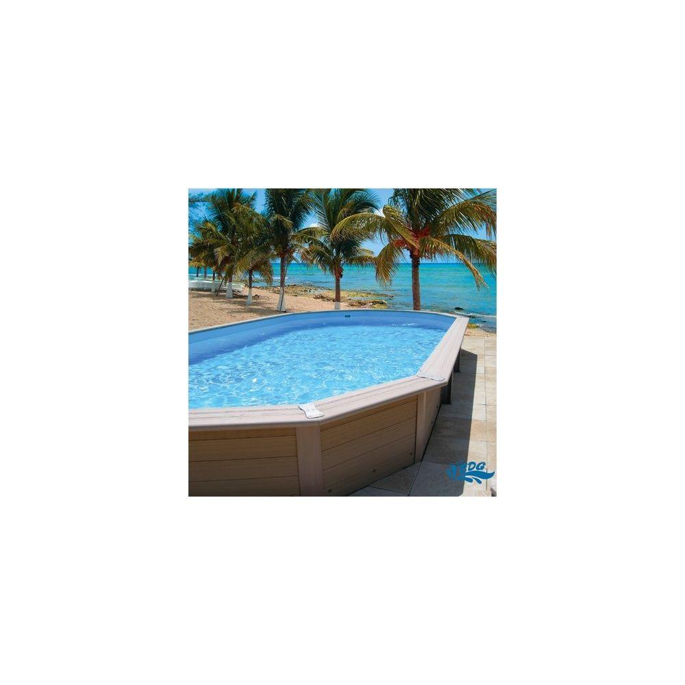 Kit piscine davao ovale 7 80 x 4 m hauteur 1 34 m for Piscine 1m de hauteur