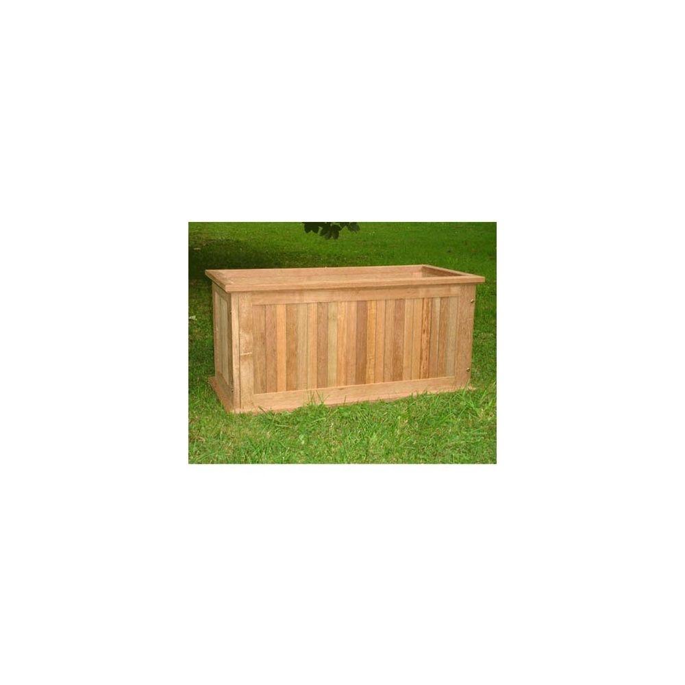 bac plantes rectangulaire l95xl45xh45cm en keruing plantes et jardins. Black Bedroom Furniture Sets. Home Design Ideas