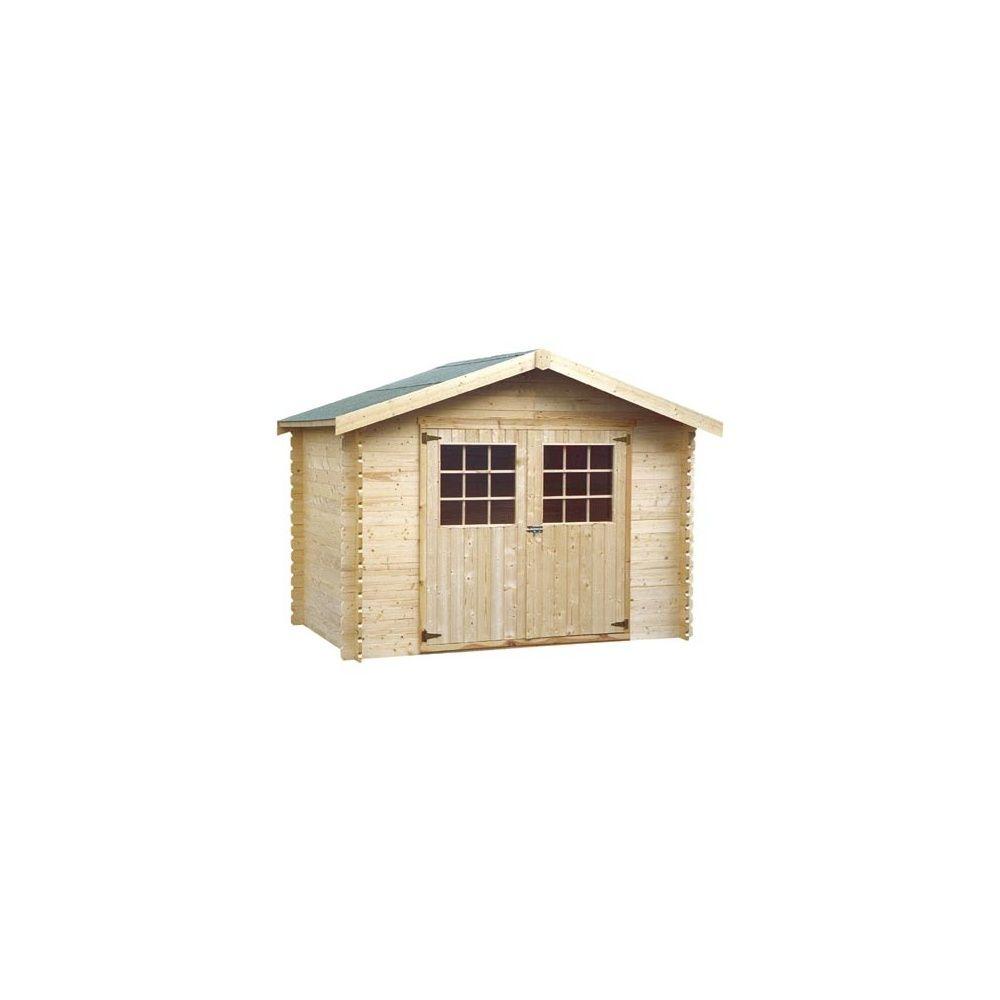 abri de jardin 5 90 m2 bois massif 28mm avec plancher. Black Bedroom Furniture Sets. Home Design Ideas