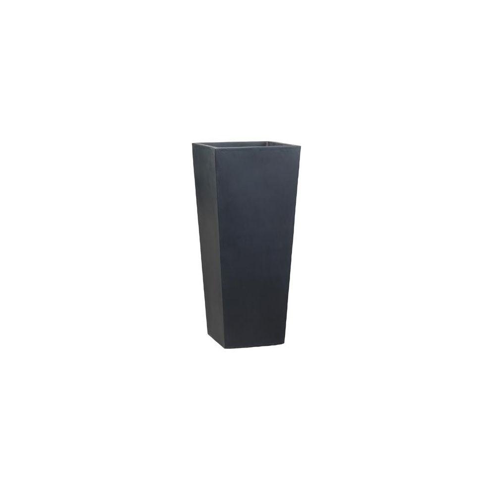 pot haut carr fibre de verre noir 230 litres plantes et jardins. Black Bedroom Furniture Sets. Home Design Ideas