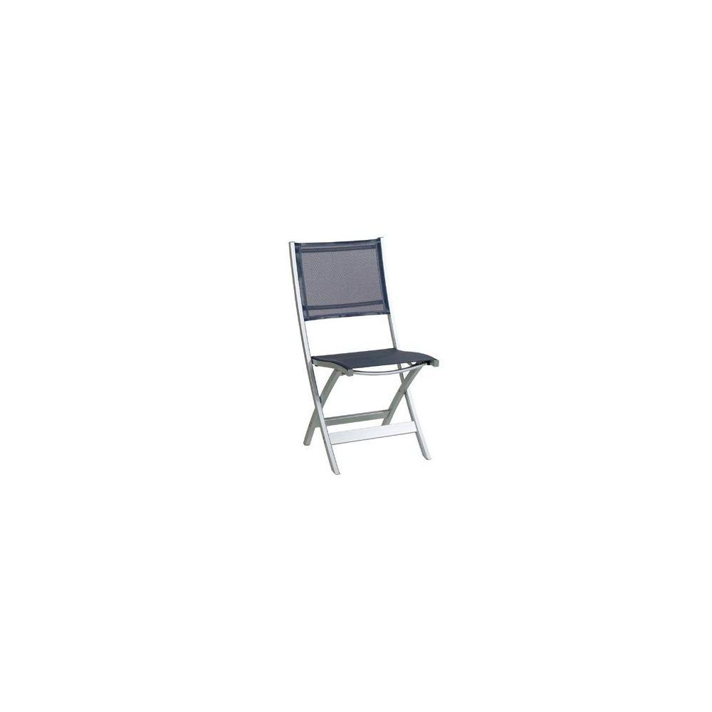 chaise pliante en aluminium et textil ne gris anthracite plantes et jardins. Black Bedroom Furniture Sets. Home Design Ideas