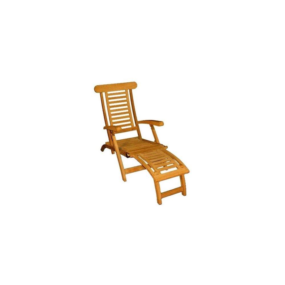 Chaise longue en teck plantes et jardins for Chaise longue teck pas cher