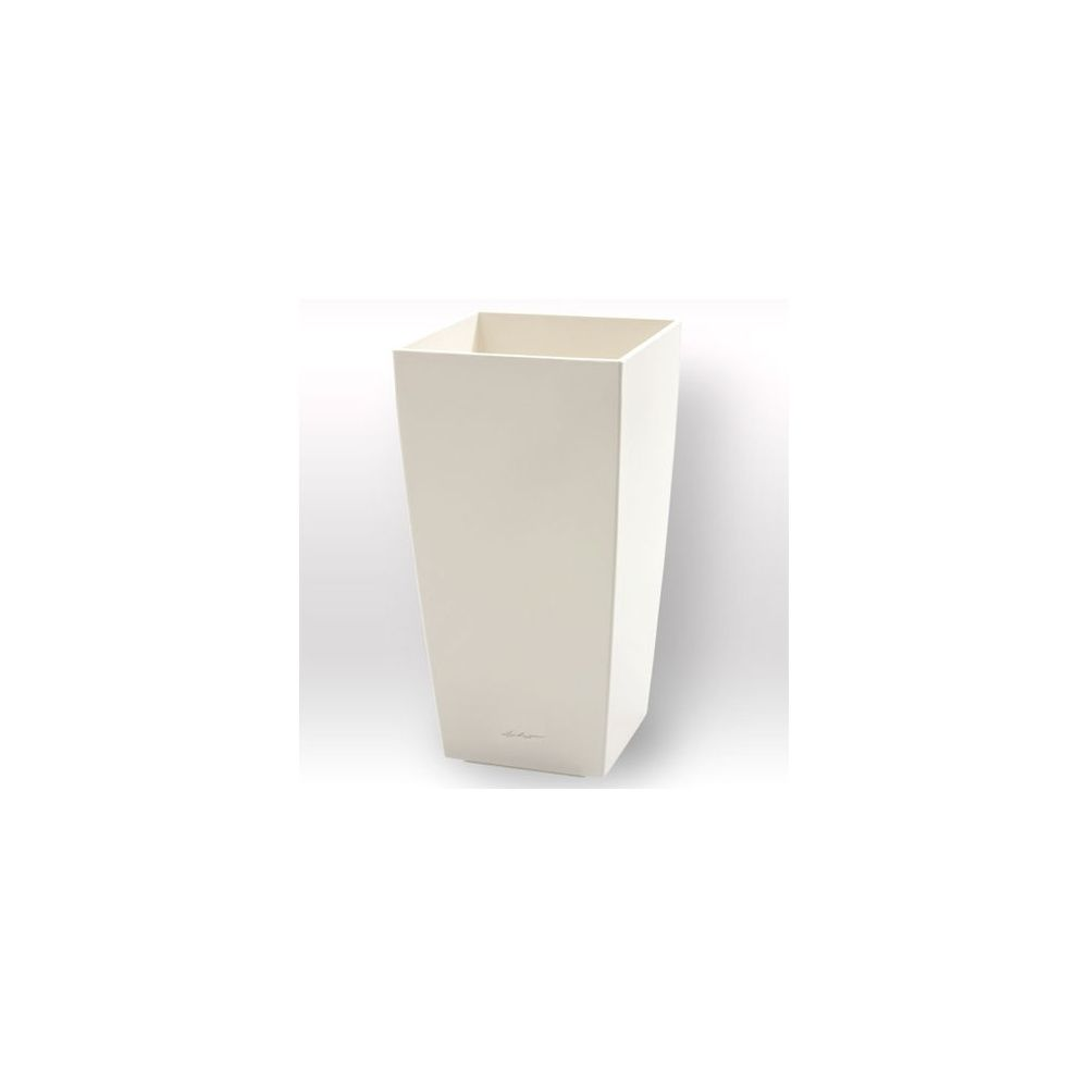 cache pot cubico blanc c t 30 cm x hauteur 56cm lechuza plantes et jardins. Black Bedroom Furniture Sets. Home Design Ideas