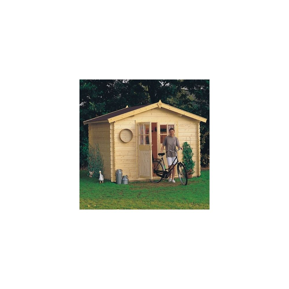 Abri de jardin 7 40 m2 niagara bois 28 mm avec plancher for Abri de jardin en bois avec plancher