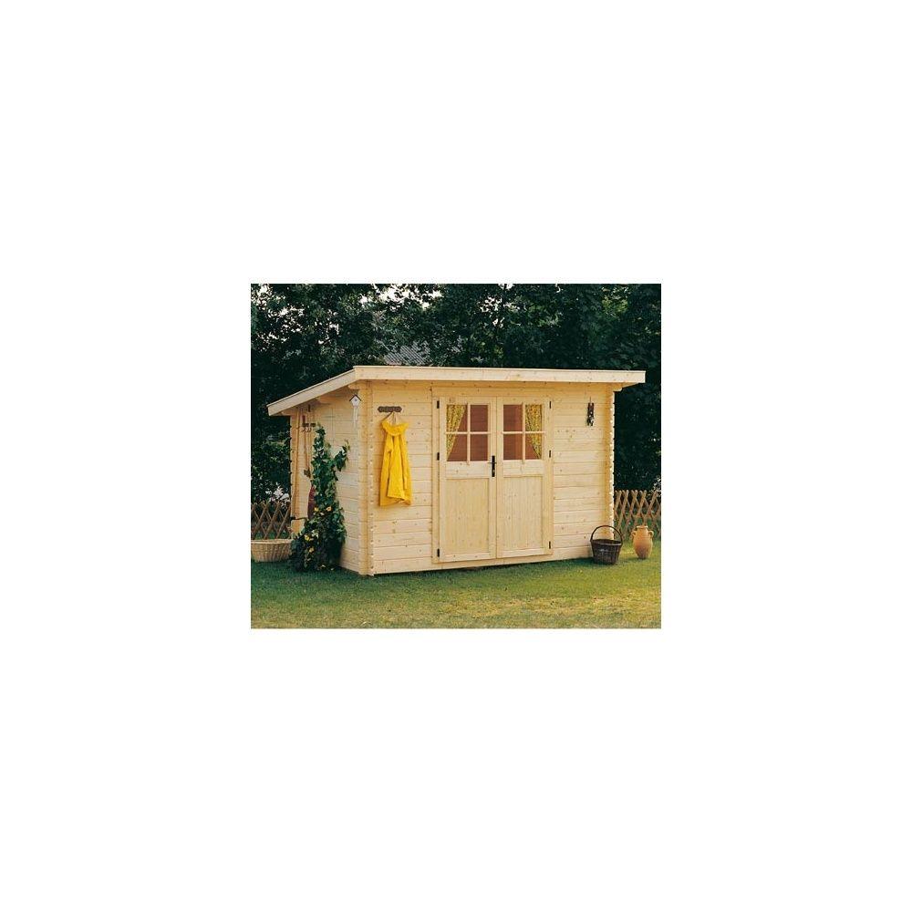 Abri de jardin en bois 28 mm utah m hors tout for Abri de jardin avec plancher