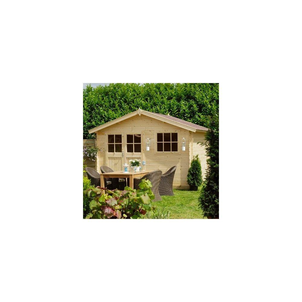 Abri de jardin en bois 28 mm californie avec plancher m hors tout plantes et jardins - Abri de jardin en bois avec plancher ...
