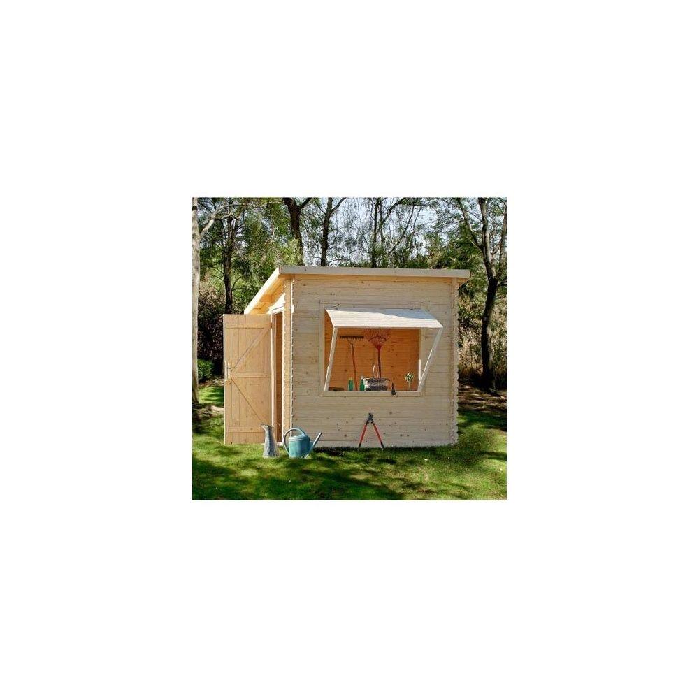 Abri de jardin 5 20 m2 kiosque saint tropez bois massif 19 for Abri jardin sans entretien