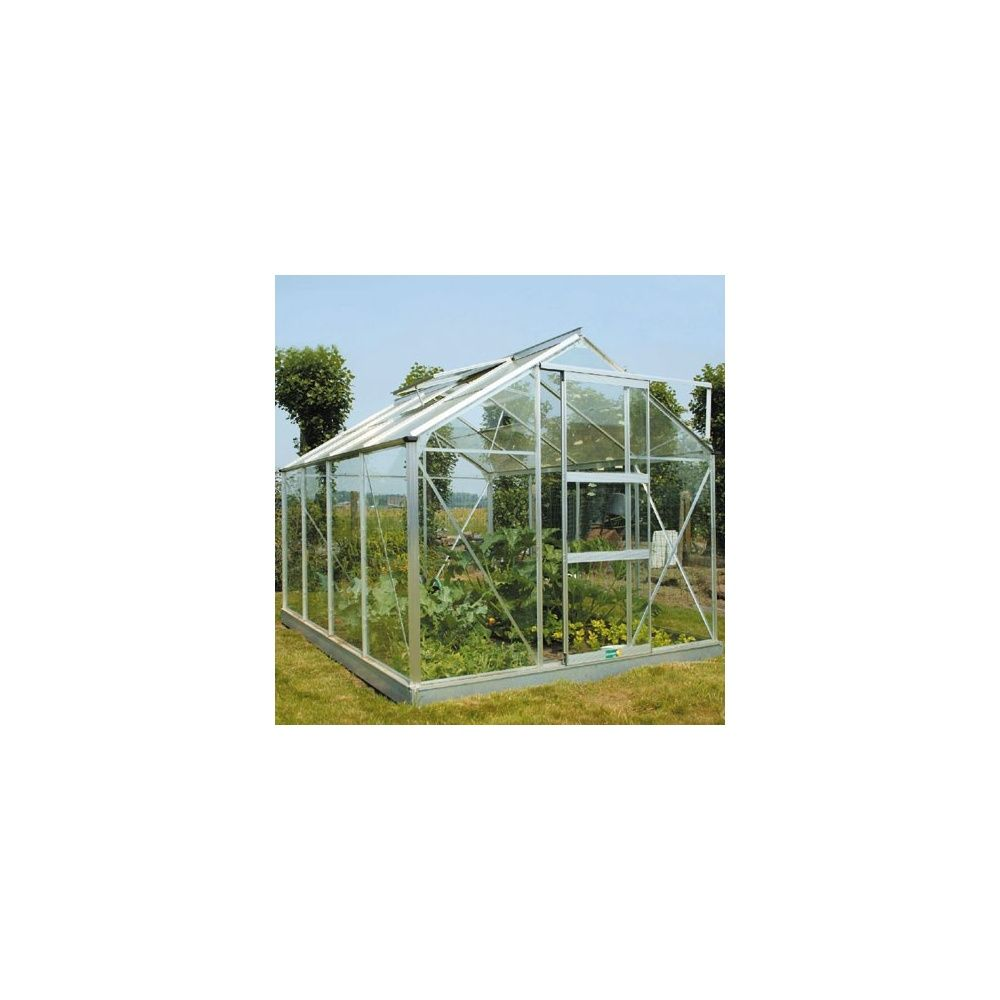 Serre de jardin 4 8m en verre horticole sans embase acd garden plantes et jardins - Serre de jardin en verre horticole ...