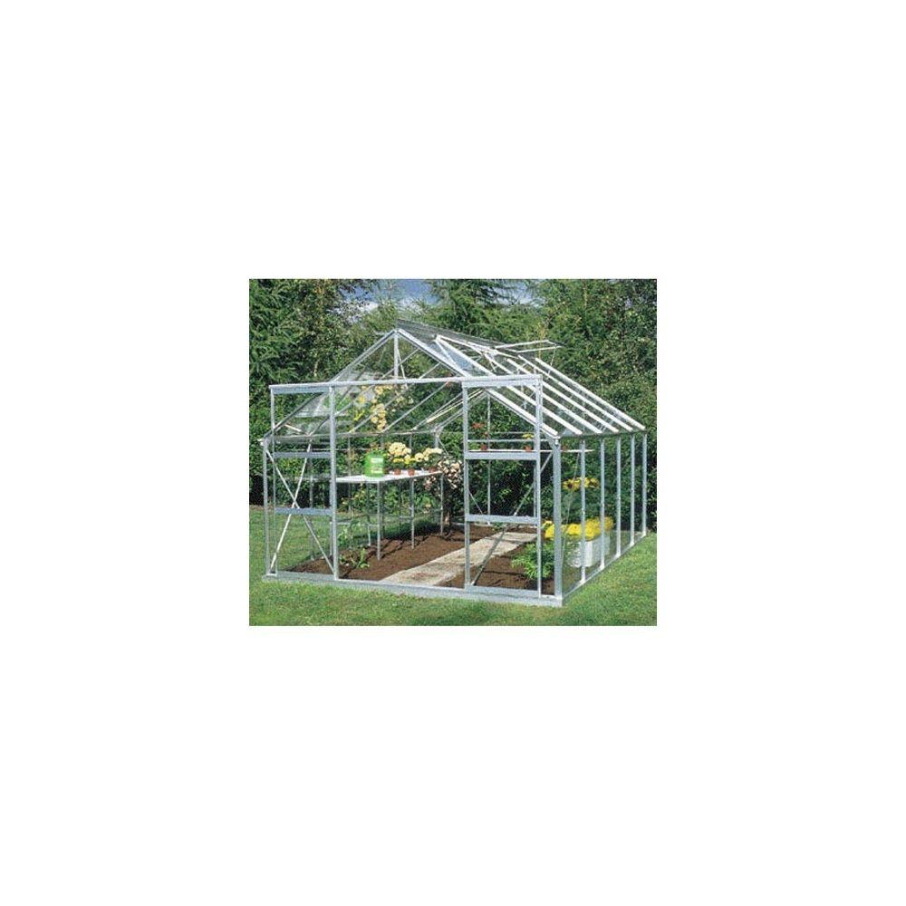 Serre de jardin Plus 10m² hors tout - Verre horticole sans embase ...