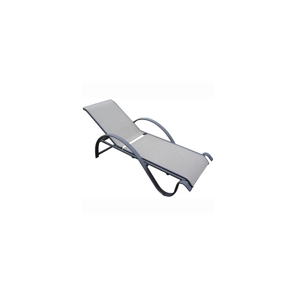 bain de soleil sunset en aluminium et textil ne dossier. Black Bedroom Furniture Sets. Home Design Ideas