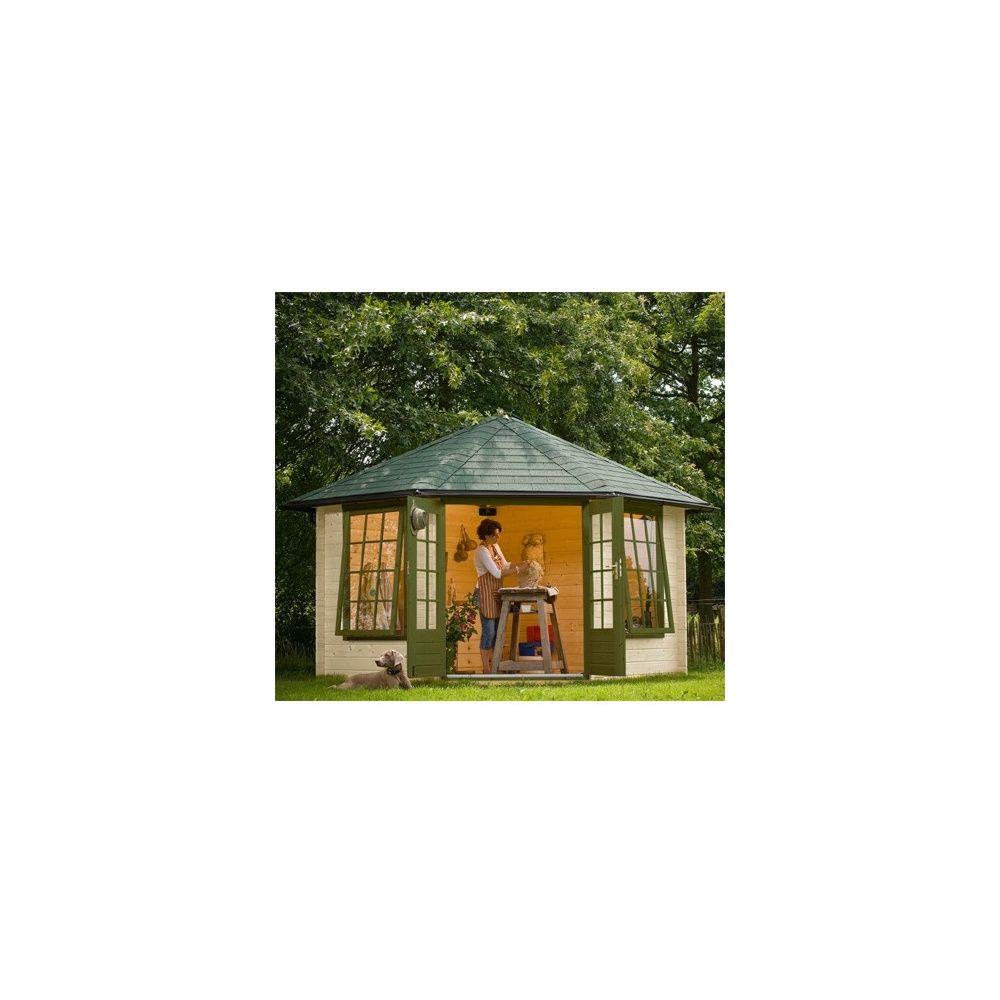 Abri de jardin 8 m2 bois massif 28 mm pefc avec plancher for Abri de jardin 8 m2