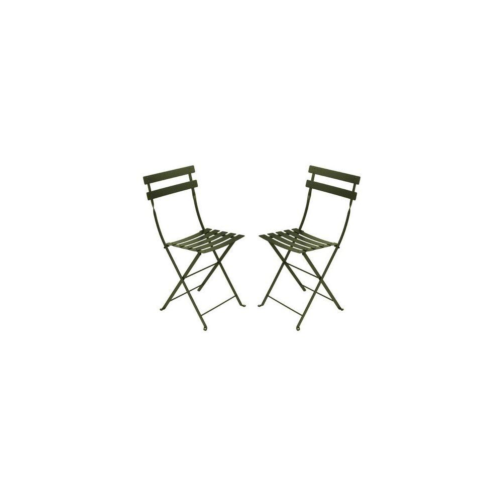 chaise pliante bistro en m tal savane fermob lot de. Black Bedroom Furniture Sets. Home Design Ideas