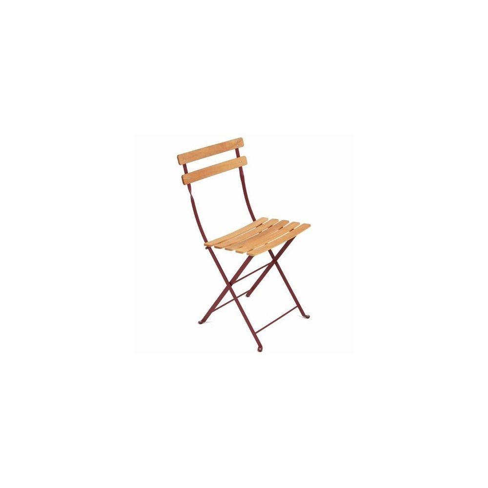 chaise pliante bistro naturel grenat fermob lot de 2 plantes et jardins. Black Bedroom Furniture Sets. Home Design Ideas
