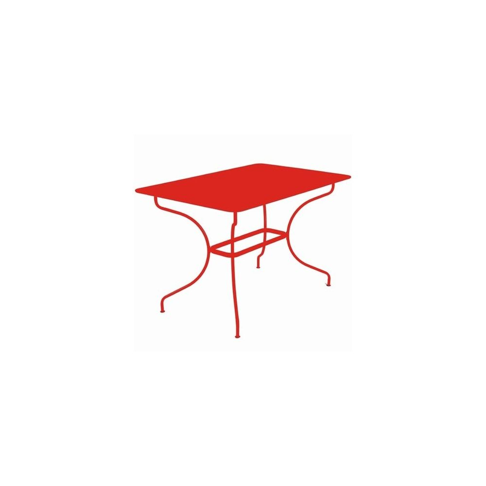 Table rectangulaire op ra 117x77cm coquelicot fermob - Fermob opera table ...