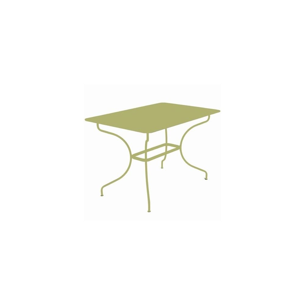 Table rectangulaire op ra 117x77cm tilleul fermob - Table opera fermob ...