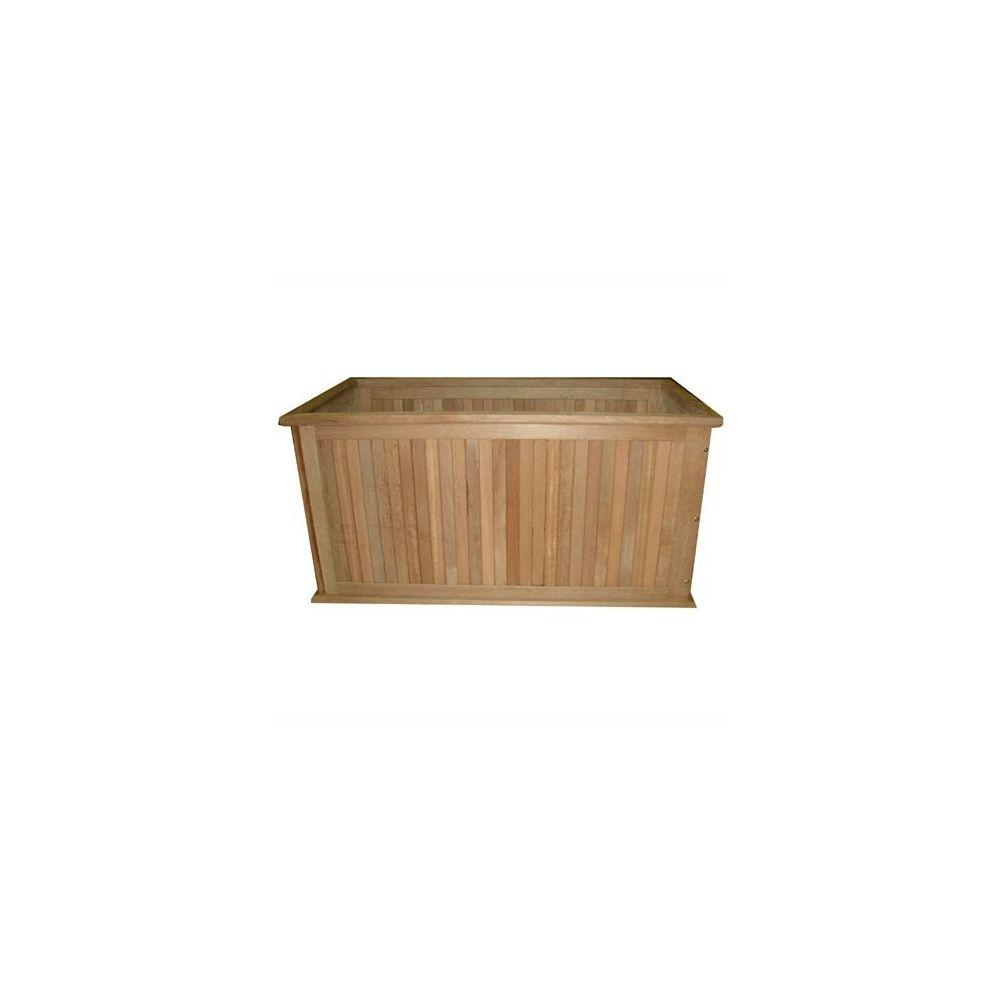 bac plantes timber rectangulaire finition bord plein l120cm plantes et jardins. Black Bedroom Furniture Sets. Home Design Ideas