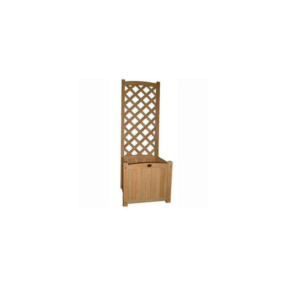 bac plantes timber avec treillis int gr petit mod le finition pointe de diamants. Black Bedroom Furniture Sets. Home Design Ideas