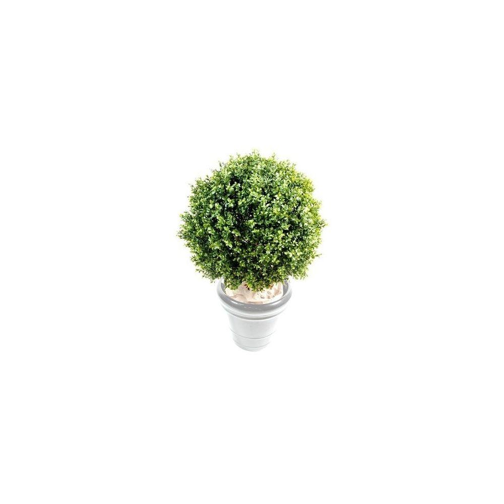 buis boule 30cm tronc naturel feuillage artificiel non rempot plantes et jardins. Black Bedroom Furniture Sets. Home Design Ideas