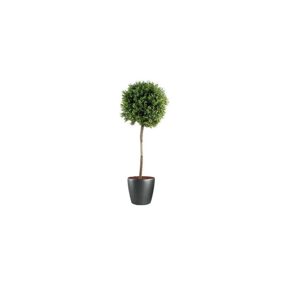 buis boule sur tige h140cm tronc naturel feuillage artificiel pot lechuza plantes et jardins. Black Bedroom Furniture Sets. Home Design Ideas