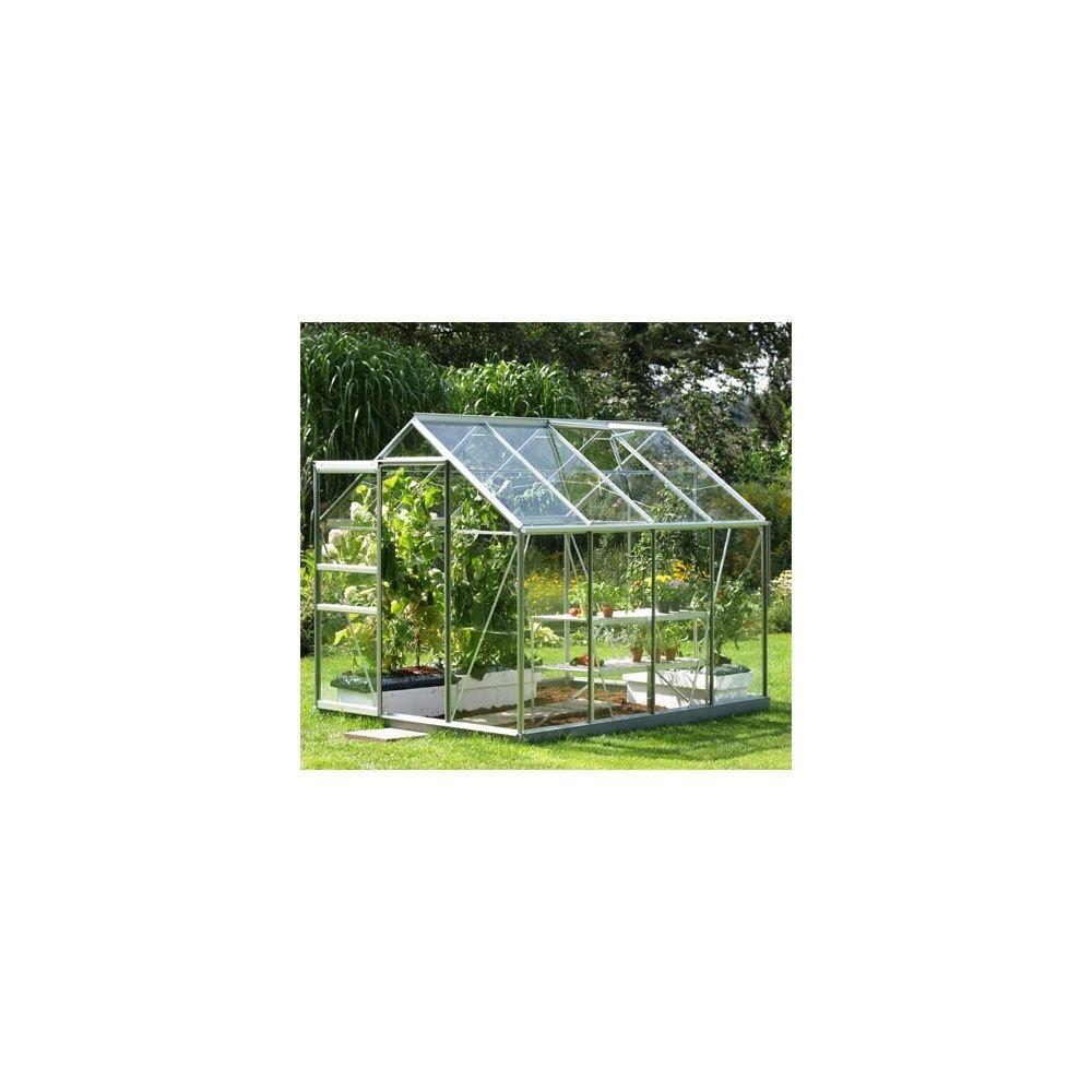 serre venus en verre horticole 6 20m embase en acier galvanis plantes et jardins. Black Bedroom Furniture Sets. Home Design Ideas