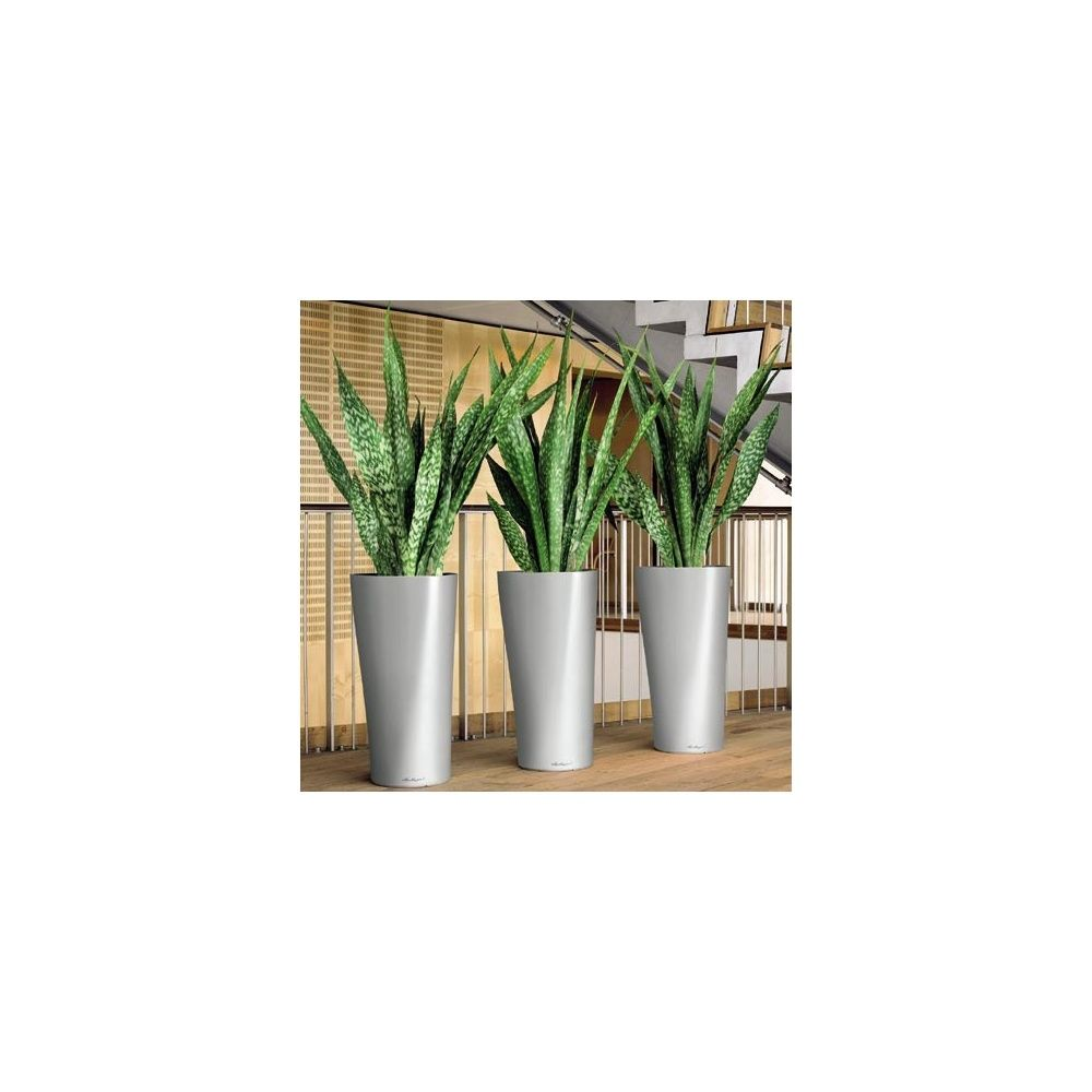pot delta 40 lechuza kit complet argent plantes et jardins. Black Bedroom Furniture Sets. Home Design Ideas