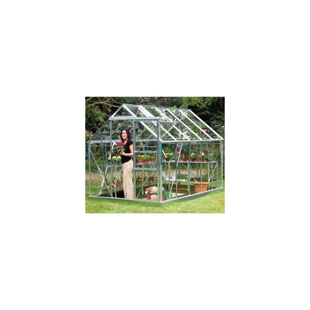 Serre de jardin Princess en verre trempé 6,20 m² hors tout Eden ...