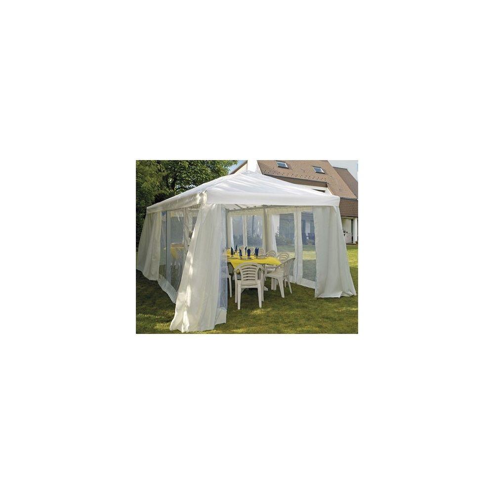 tonnelle utah 3x6m en aluminium avec toile rideaux moustiquaires plantes et jardins. Black Bedroom Furniture Sets. Home Design Ideas
