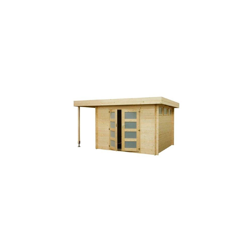abri de jardin 8 7 m2 toit plat extension bois 19mm pefc plancher plantes et jardins. Black Bedroom Furniture Sets. Home Design Ideas