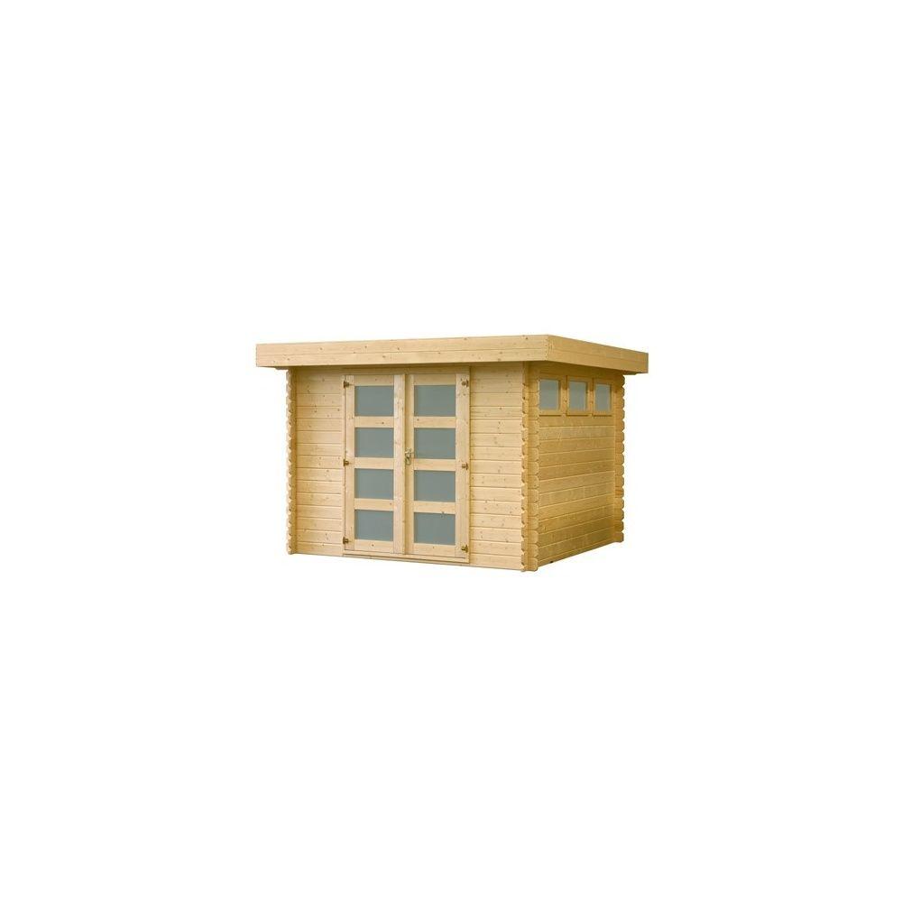 Abri de jardin 8 7 m2 toit plat bois 28 mm pefc plancher plantes et jardins - Abri jardin toit plat m creteil ...