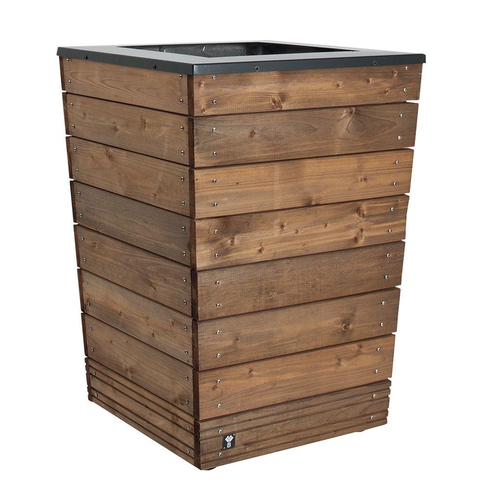 bac fleurs bois trait acier l55 h76 cm collectors plantes et jardins. Black Bedroom Furniture Sets. Home Design Ideas