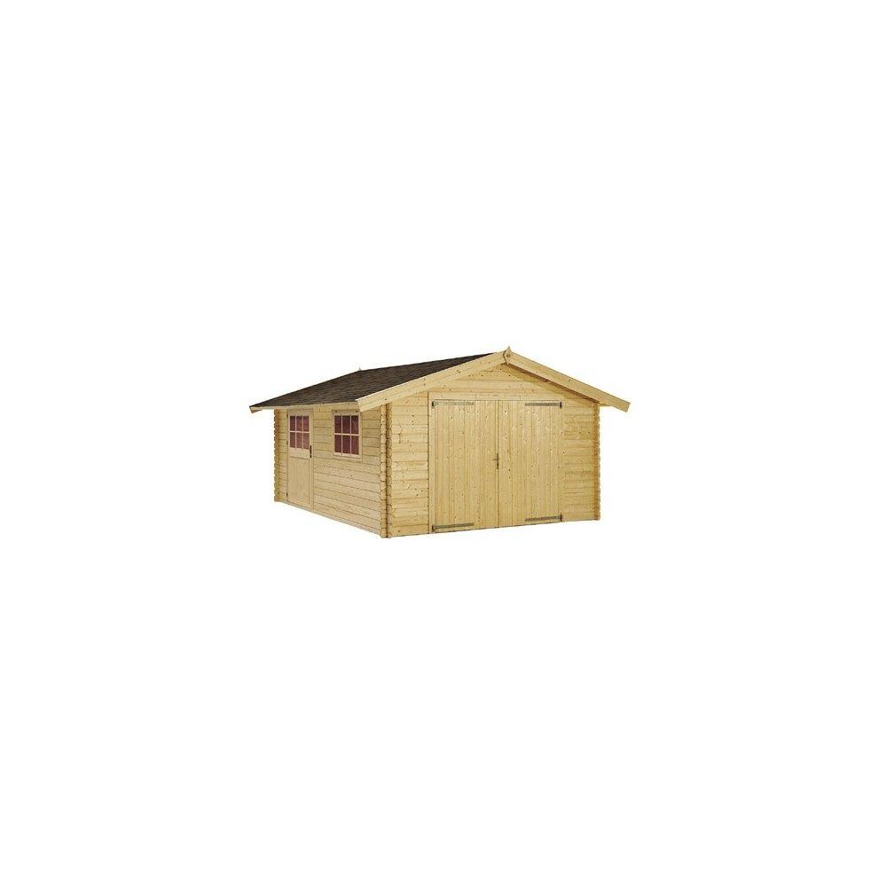garage indiana m hors tout en bois 44 mm plantes et jardins. Black Bedroom Furniture Sets. Home Design Ideas