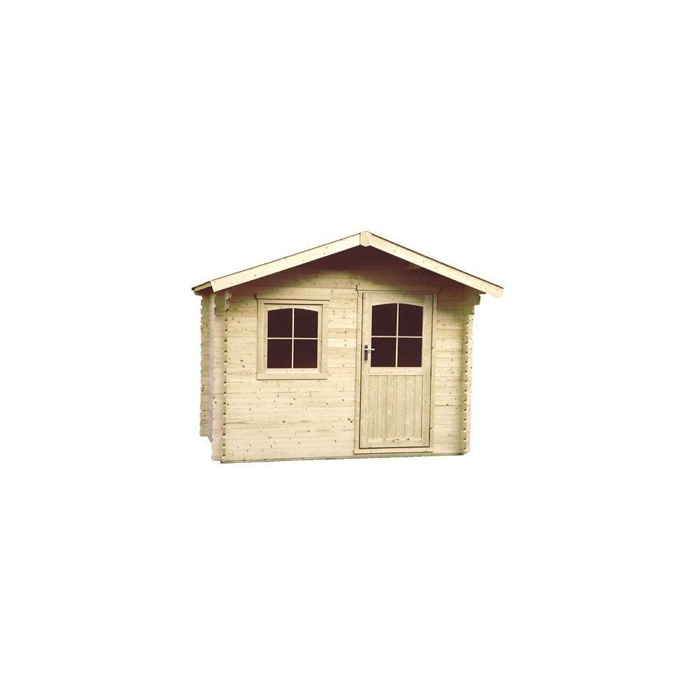 Abri de jardin 9 m2 bois 34 mm pefc t4 simple porte for Porte de jardin en bois